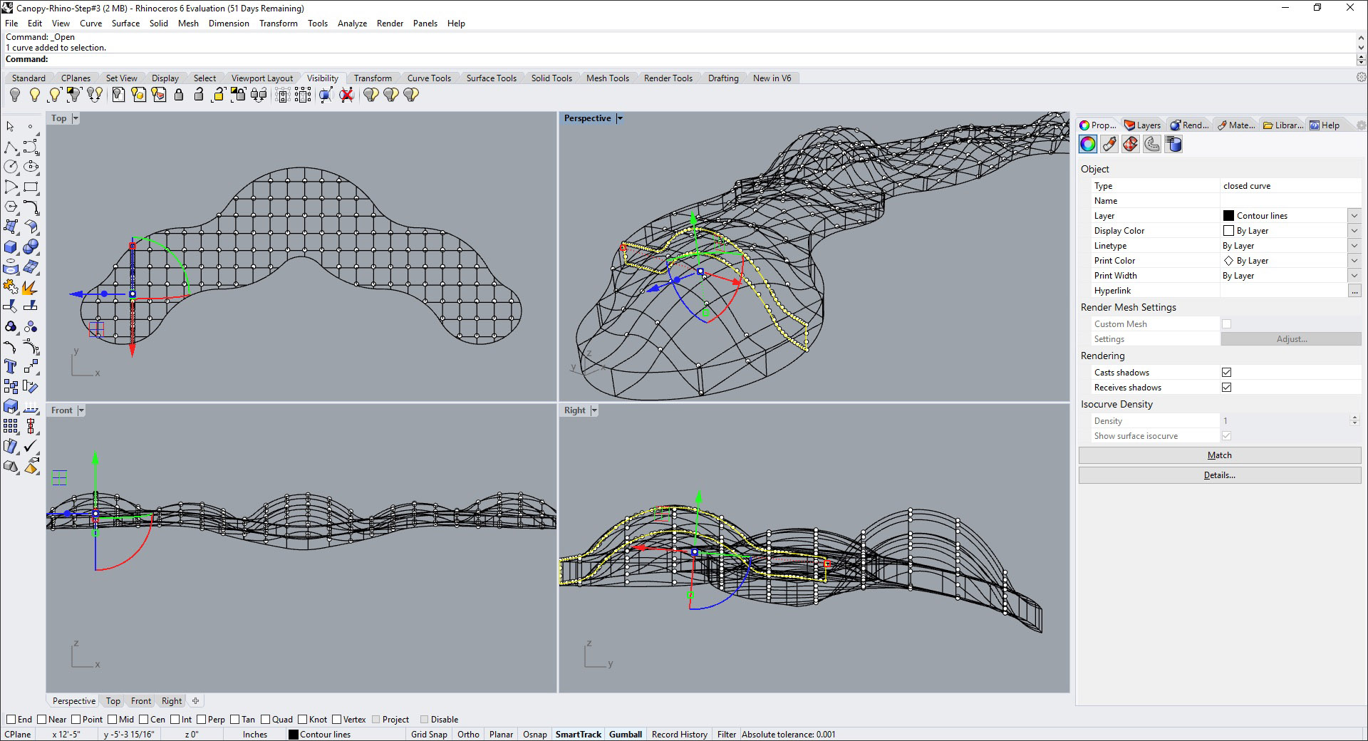 Modeling a Waffle Structure in Rhino and Grasshopper